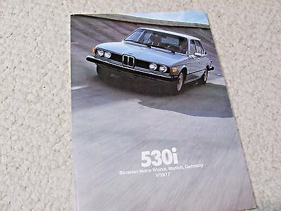 1977 BMW 530i SALES BROCHURE
