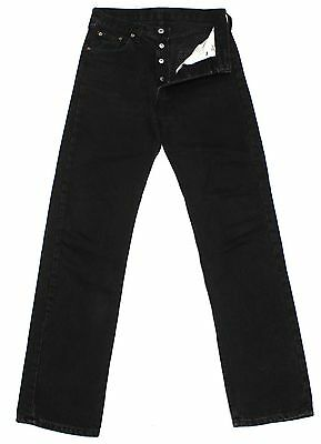 Vintage Levi's 501 Womens Black Denim High Waisted Boyfriend Jeans W28 L32 Lv981