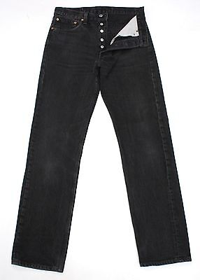 Vintage Levis 501 Black Ultimate Denim High Waisted Boyfriend Jeans W31 L33 L977