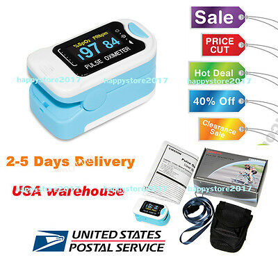 CMS50N OLED FingerTip Pulse Oximeter Blood Oxygen Meter SpO2 PR Monitor US STOCK