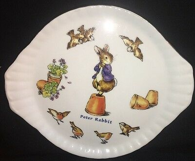 Peter Rabbit Handled Tray Wall Plate World Of Breatrix Potter  Child's Tray
