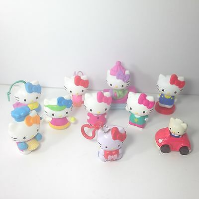 Lot 10 HELLO KITTY Sanrio McDonalds Toy Figures Favors Cake Toppers Surprises
