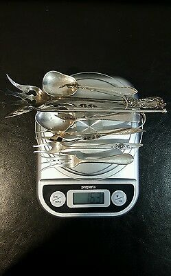 sterling silver antique spoons/forks/tongs