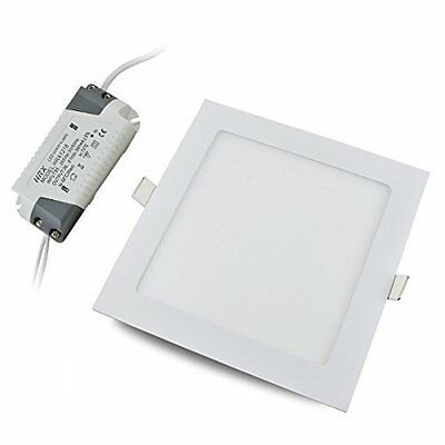 Cool White LED Panel Light Square Shape 18W day light cieling light/coffee shop