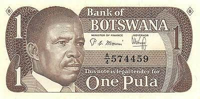 Botswana 1 pula ND. 1983  P 6a  Uncirculated Banknote M14J