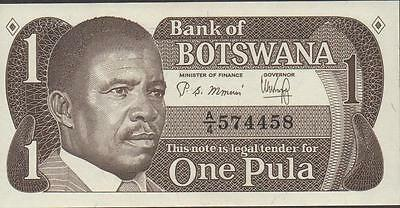 Botswana 1 pula ND. 1983  P 6a  Series  A/4  Uncirculated Banknote M14J