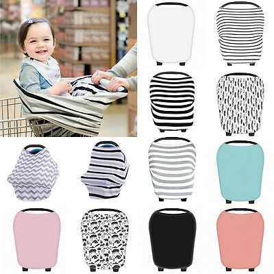 Multi-Use Stretchy Newborn Infant Nursing Cover Baby Car Seat Canopy Cart Cover#
