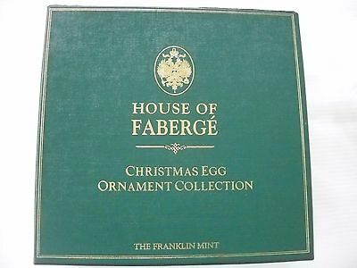 The Franklin Mint House Of Faberge 6 Christmas Eggs Ornament Collection w Box