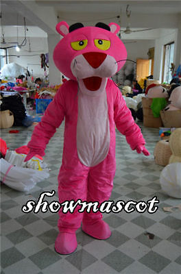 Pink Panther Mascot Costume Halloween Cosplay Party Fancy Adult Dress Outfit