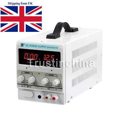 Adjustable 0-10A 0-30V DC Power Supply Precision Variable Digital Lab UK FATS SP