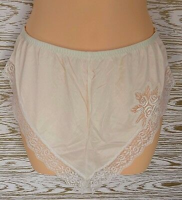 vintage french maid Hi Waist Tap panties Semi Sheer with lace applique detail sm