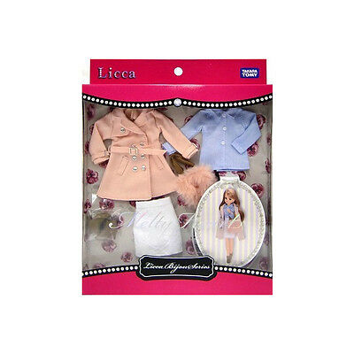 Takara Tomy  Licca-chan Bijou series dress set - melty Heart - Doll outfit.