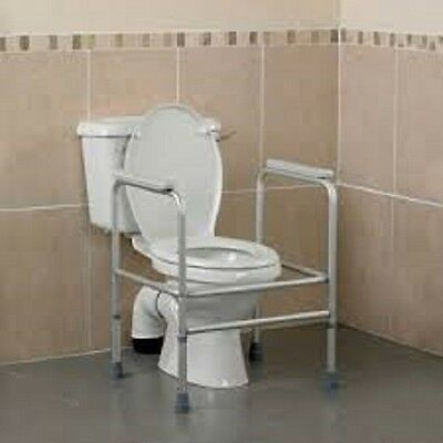 Nrs Light Weight Height Adjustable Grey Toilet Frame Max User Weight 30St