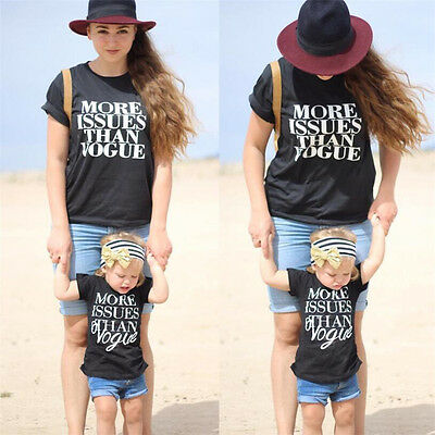 USA Baby Kid Matching Clothes Women Boys Girl Family Outfits Tops+ Pants Set