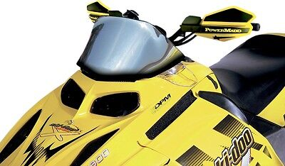 Powermadd 13020 Snowmobile Windshield 9.5in. Chrome with Graphics