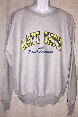 Late Show with David Letterman Sweatshirt size adult Large by Champion