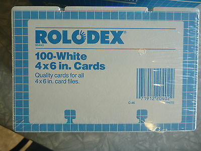 Rolodex 4x6  Blank Cards  sealed White
