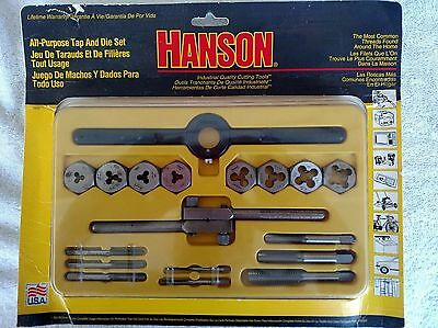 HANSON All - Purpose 18 Piece Tap and Die Set INDUSTRIAL QUALITY CUTTING TOOLS