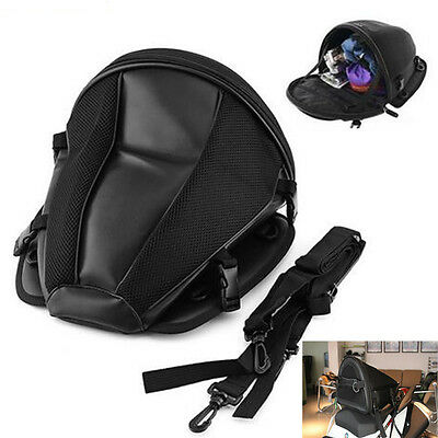 Motorcycle Tail Bag Back Seat Storage Carry Hand Shoulder sport riding Backpack