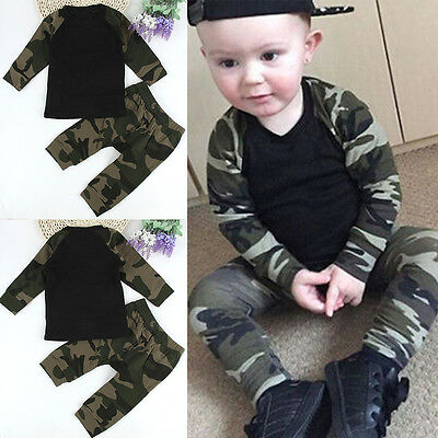 New 2pcs Toddler Kids Baby Boy Infant Clothes T-shirt Tops+Pants Outfits Set