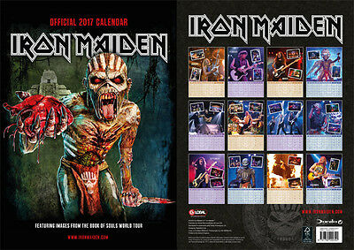 Iron Maiden Calendar 2017 official genuine Book of souls - Not CD LP VINYL ACDC