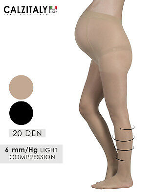 Maternity Sheer Tights, Light Support Pregnancy Pantyhose, 20 DEN, Made in Italy