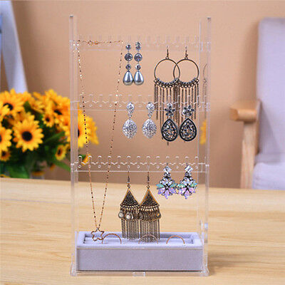 Earrings Necklace Display Jewelry Accessories Rack Stand Organizer Holder Case