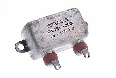 Sprague NOS Paper in Oil PIO capacitor 0.25uf / 600DC PN:CP53B1EF254K