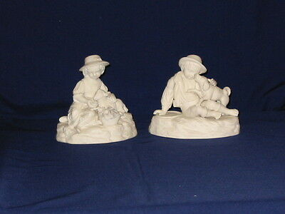 Pair Of Parian Children Figures Possibly Made By Samuel Alcock
