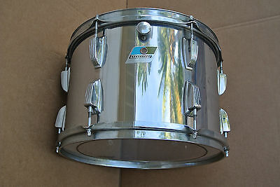 "CHICAGO era 1970's LUDWIG 13"" STAINLESS STEEL TOM for YOUR DRUM SET! LOT #V695"