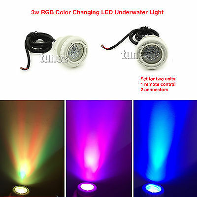 3w RGB Underwater Led Pool Stair Light 2 Inch Wall Fittings with Remote Control