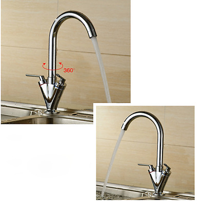 Kitchen Sink Faucet Double Put Single Hole Hot and Cold Faucet Bathroom Product