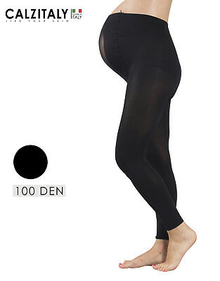 Maternity Footless, Pregnancy Leggings, 100 DEN, Made in Italy