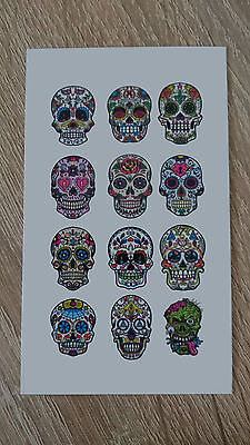 10x6cm Sheet-High-Quality-Fake-Tatto-Party-Skulls-Cool-Waterproof-Temporary