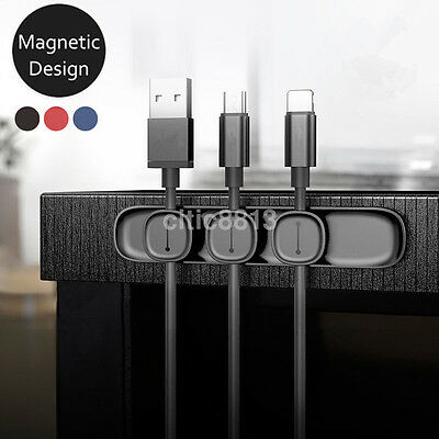 Baseus Magnetic USB Cable Collector Clip Organizer Clamp Cord Management Holder