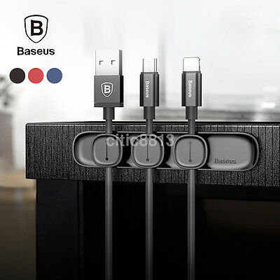 Baseus Durable Magnetic USB Cable Clip Organizer Clamp Cord Management Holder
