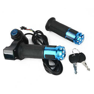 1 Pair EBike Electric Scooter Handlebar Throttle Grip with LED Digital Meter