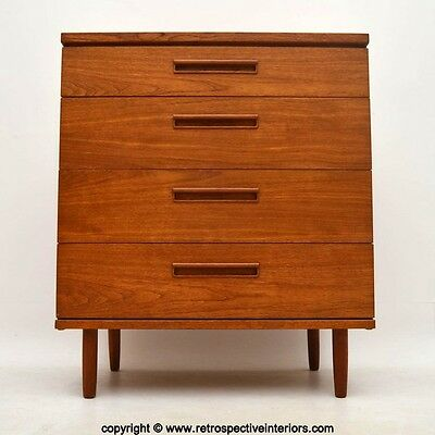RETRO TEAK CHEST OF DRAWERS VINTAGE 1960's
