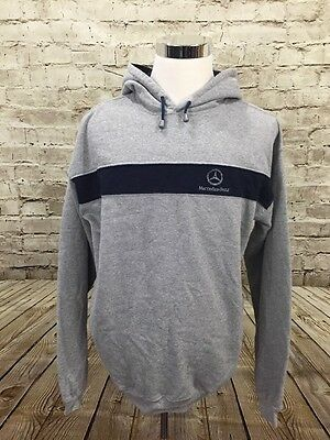 MERCEDES BENZ Hoodie Sz Large Gray Pullover Hand Warm Pockets