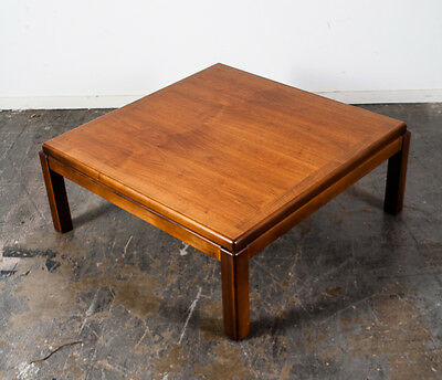 "Mid Century Modern Side Coffee Table Lane Drexel Square Vintage End Large 34"" M+"