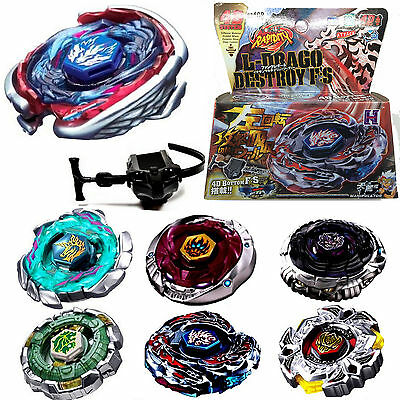 4D Fusion Top Metal Master Rapidity Fight Rare Beyblade Launcher Grip Sets Game