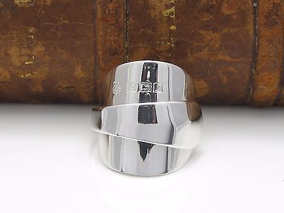 Stunning  Solid Sterling Silver Spoon Ring 1958 -Size M