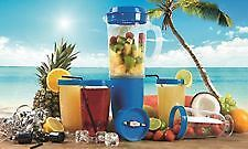 Blue Party Mix Blender Juicer 12 Piece Set Fruit Smoothie Food Processor Mixer