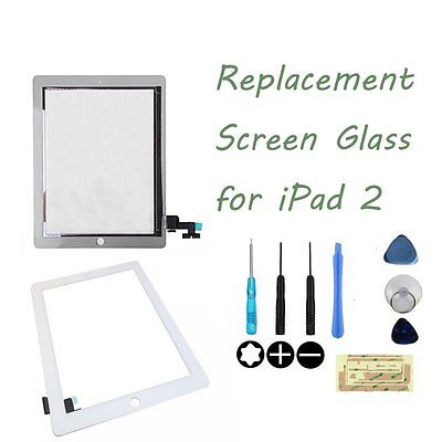 For iPad 2 White Replacement Digitizer Touch Screen Glass Display