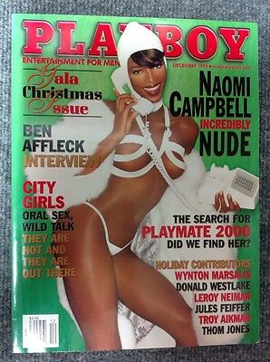 Playboy Magazine December 1999 Gala Christmas Issue Naomi Campbell