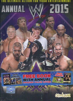 WRESTLING WWE ANNUAL 2015 WRESTLEMANIA 30 - CENTUM 2012 HB - NEW with FREE BOOK