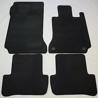 Genuine Mercedes Main Dealer C Class W204 Floor Mats Mat Set 2007-2014 Black