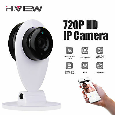 HD 720P Wireless WIFI IP Camera Home Indoor Network System Night Vision Mini Cam