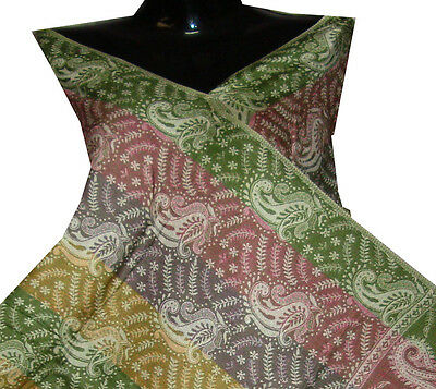 "Indian Green Pashmina Shawl Stole Scarves Excellent Design 80""  Free Shipping!!!"