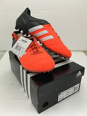 Ace 15.1 FG/AG Leather Football Boots in Orange and Black - Sizes UK 9, 9.5, 10